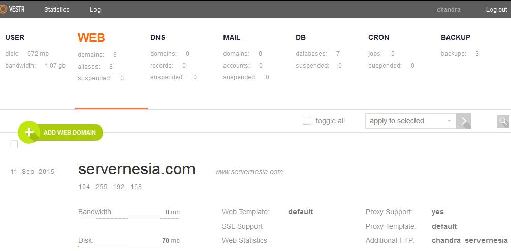 vesta-web-panel