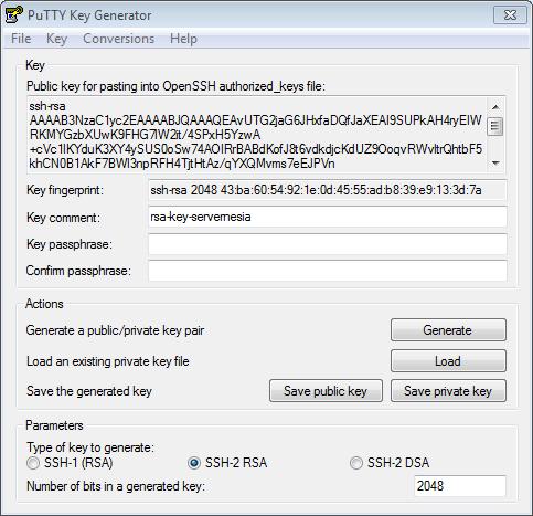 putty key generator