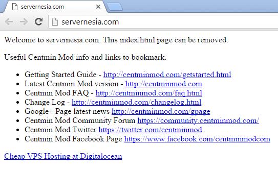 CentminMod default html page