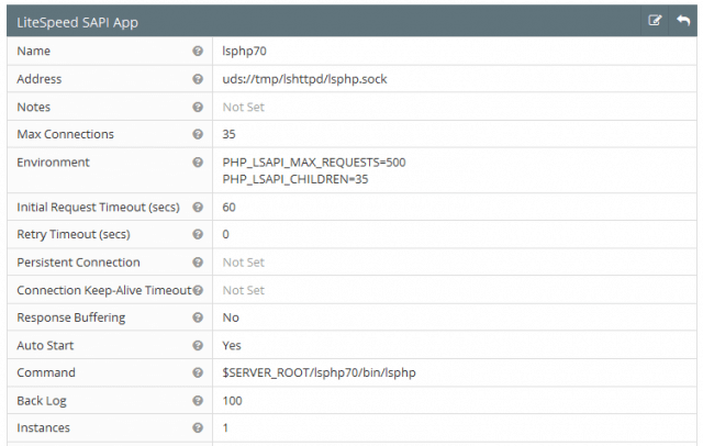 openlitespeed litespeed sapi app php 7 configuration