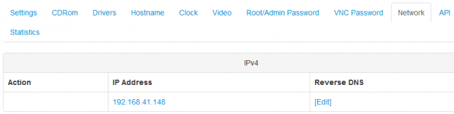 SolusVM Reverse DNS setting