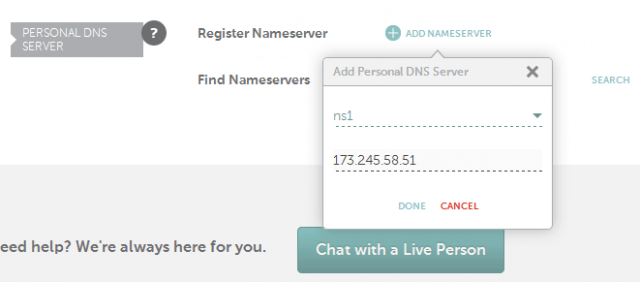 Namecheap Register Nameserver