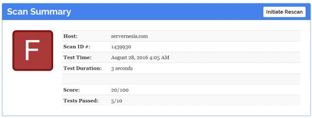 Hasil analisa HTTPS dari Mozilla Observatory
