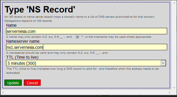 Hurricane Electric DNS Modify NS Record - Membuat Custom Nameserver pada Hurricane Electric