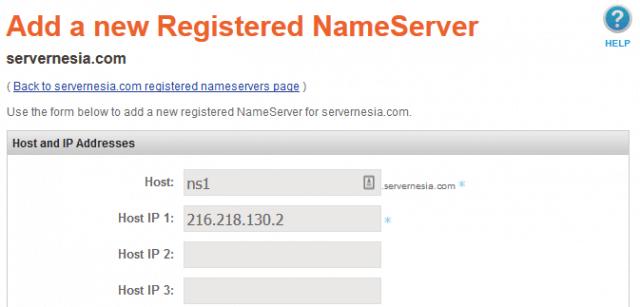 Namesilo Add a new Registered NameServer 640x307 - Membuat Custom Nameserver pada Hurricane Electric